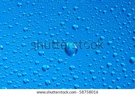 water bubbles on the window for background - stock photo