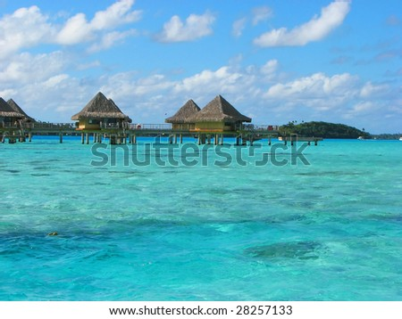 Water Bungalows in Bora-Bora, French Polynesia