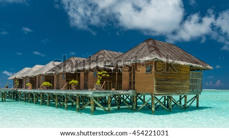 water bungalows on the maldives