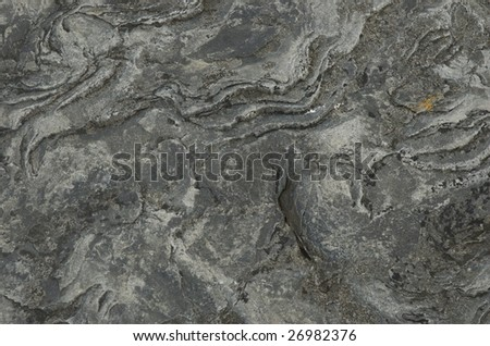 Water carved rocks in the coast of Northern Norway. - stock photo