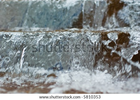 Water cascading down steps ( a water feature near the Riverside Centre in Brisbane