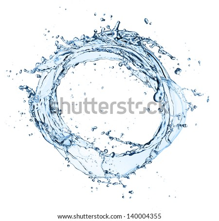 Water circle isolated on white background - stock photo