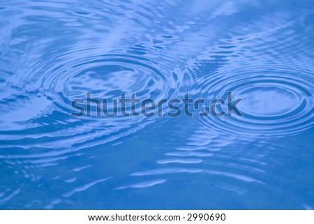 Water Circles - stock photo