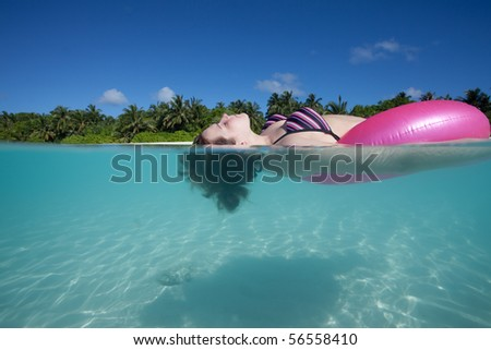 Water clear as crystal - stock photo