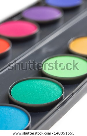 water color box - stock photo