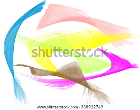 Water color hand painted brush strokes background - stock photo