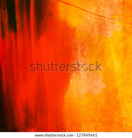 Water color on old paper grunge background. - stock photo