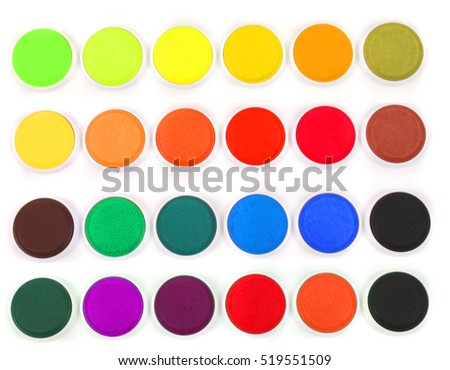 water colors for children on the white background