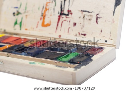 water colors pallete - stock photo