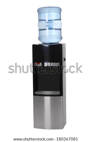 Water cooler cut out on white background - stock photo