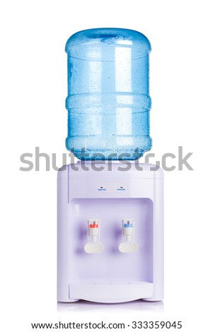 water cooler dispenser isolated on white - stock photo