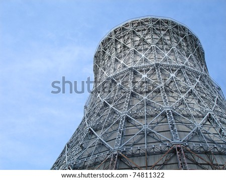 water-cooling tower - stock photo