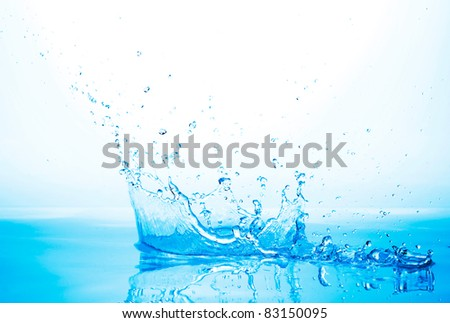 water crown - stock photo