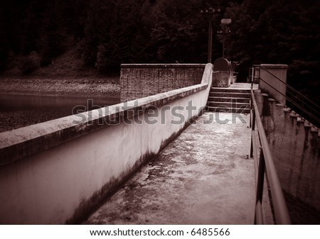 Water dam - toned picture (ideal for background or wallpaper)