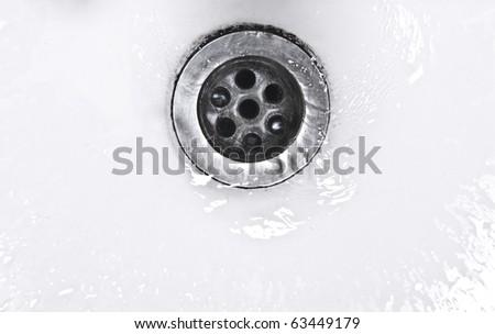 water drain - stock photo
