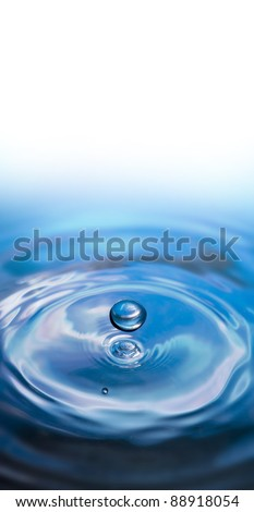 water drop and empty space for text