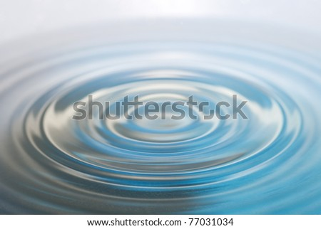 water drop and splash on a blue background - stock photo