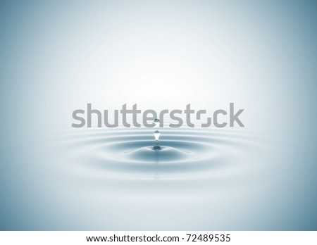 Water drop blue - stock photo