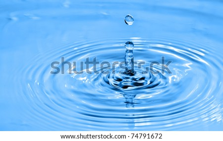 Water drop , blue. See my portfolio for more - stock photo