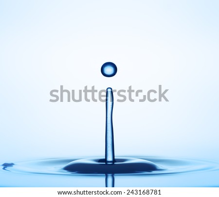 Water drop close up - stock photo