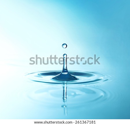 Water drop, close-up - stock photo