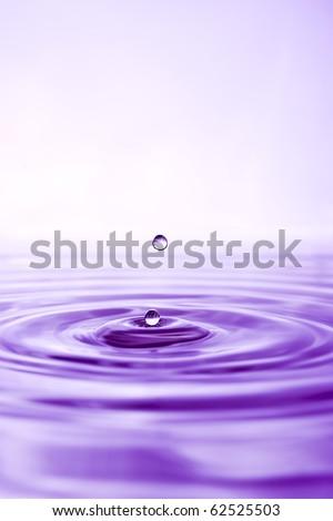 Water drop close up - stock photo