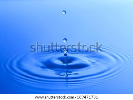Water drop close up with colorful background