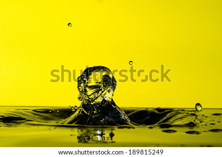 Water drop collision - stock photo