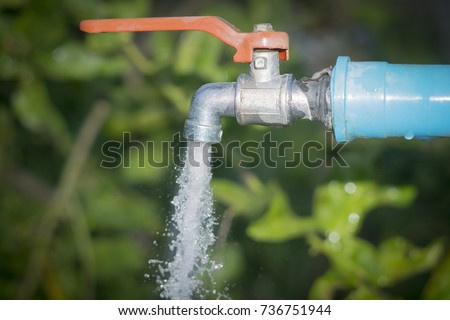 Water Drop Old Chrome Faucet Water Stock Photo 736751944 - Shutterstock