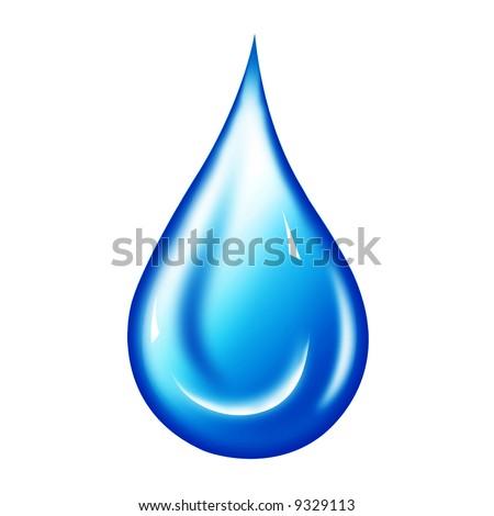 Water drop illustration. Water drop background.. Water-drop - stock photo
