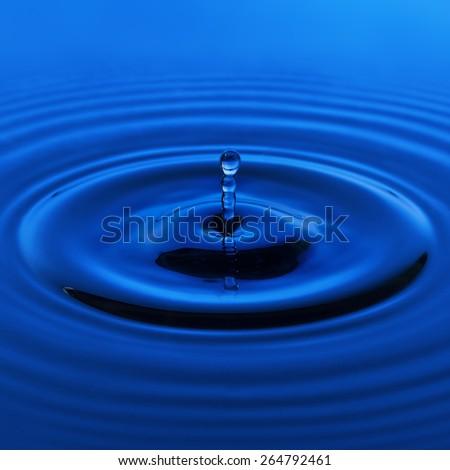 Water drop in blue. design element - stock photo