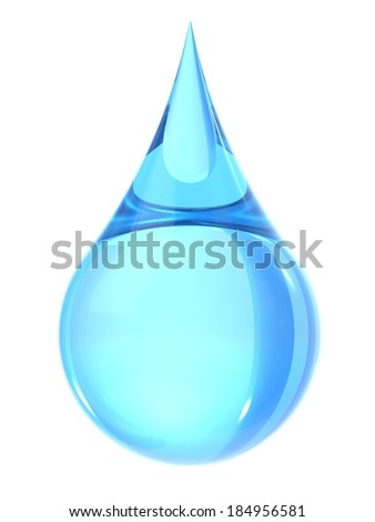 Water drop isolate on white - stock photo