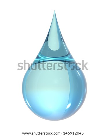 Water drop isolate on white back ground - stock photo