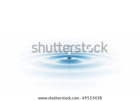 water drop isolated on white - stock photo