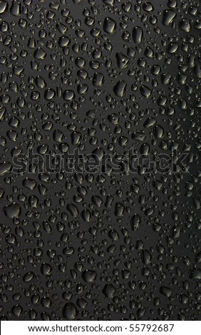 water drop on black - stock photo