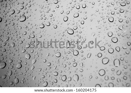 water drop on glass - stock photo