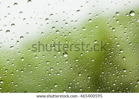 Water drop on glass mirror abstract background.