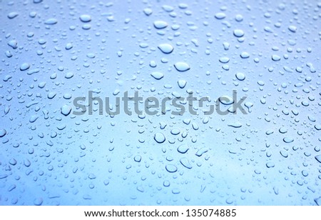 water drop on metal surface