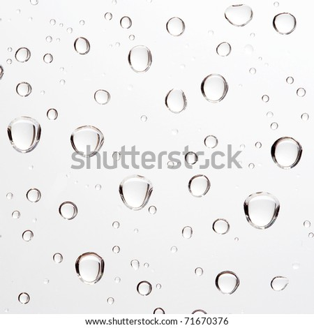 Water drop on white - stock photo