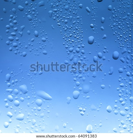 Water drop on window