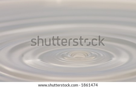 water drop & ripple - stock photo