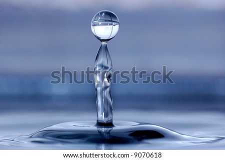 Water drop splash 2 - stock photo