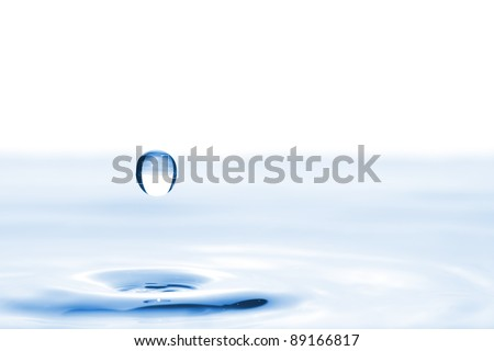 water drop splash with space for your text See my portfolio for more - stock photo