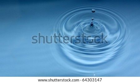 water drop with copy space - stock photo