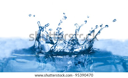 Water drop with shallow depth of field isolated on white background - stock photo