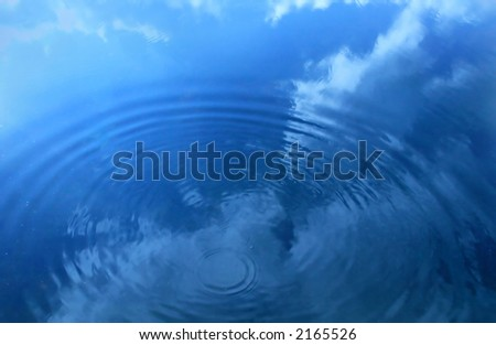 Water droplet - stock photo