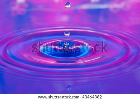 Water droplet close up