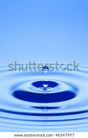 Water droplet close up - stock photo