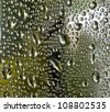 water droplet in glass - stock photo