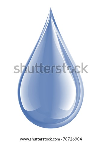 water droplet isolated on white